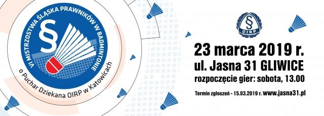 VII mistrzostwa prawników w badmintonie 2019 na Jasnej31 w Gliwicach