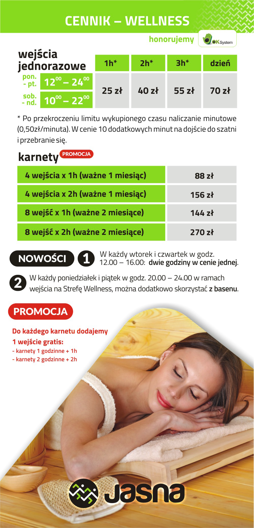 Cennik Wellness